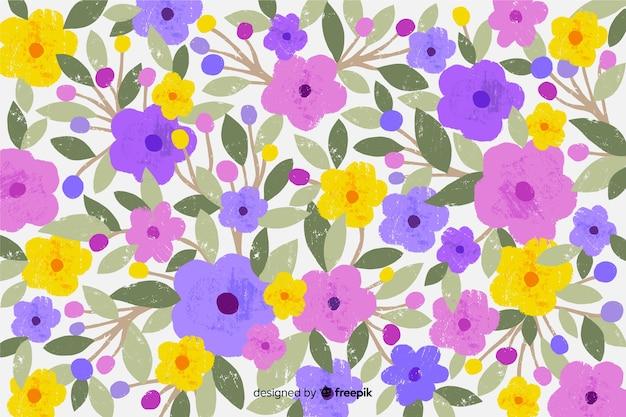 Frühlingsblüte blumen handgezeichneten