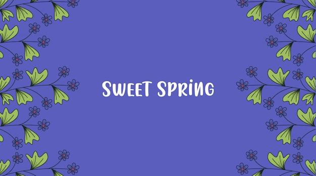 Frühlingsblumen banner hintergrund