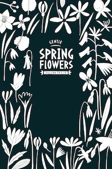 Frühlingsblumen-karte
