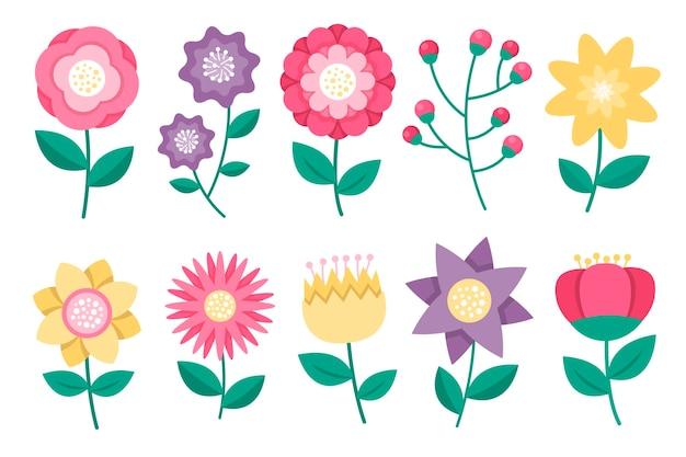 Frühlingsblumen packen