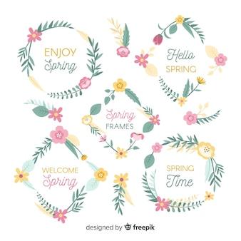 Frühlingsblumenrahmen-sammlung