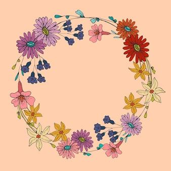 Frühlingsblumenrahmen Kostenlosen Vektoren