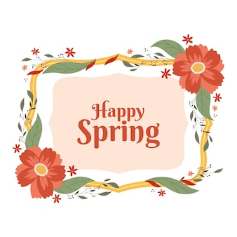 Frühlingsblumenrahmen