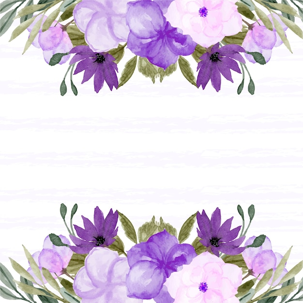 Frühlingsblumenrand mit hübscher lila blume