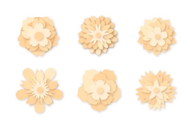 Frühlingsblumensammlung in der papierart