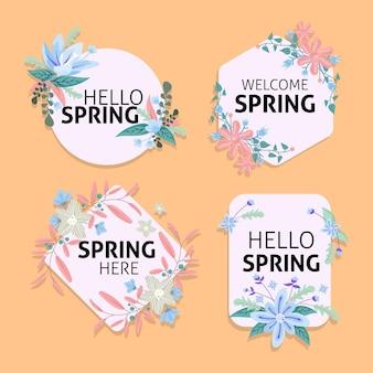 Frühlingsetikettenkollektion