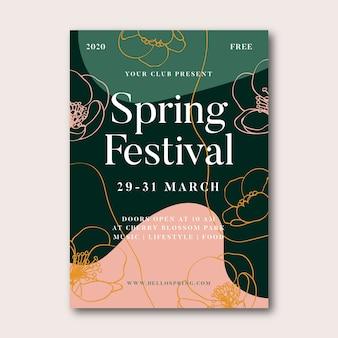 Frühlingsfestplakat