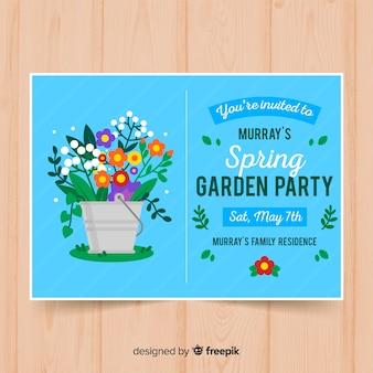 Frühlingsgarten party flyer