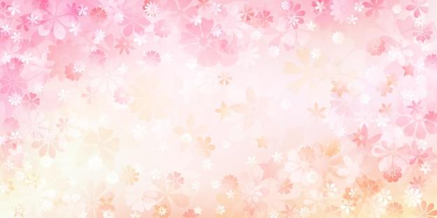 Frühlingshintergrund verschiedener blumen in rosa und pfirsichfarbenen farben
