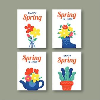Frühlingskarte sammlung