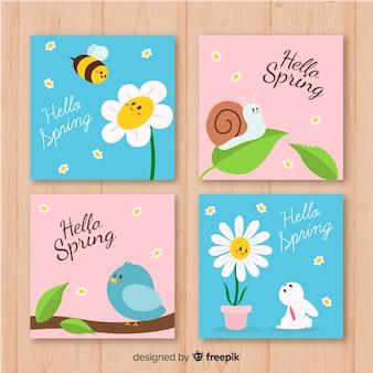 Frühlingskartensammlung