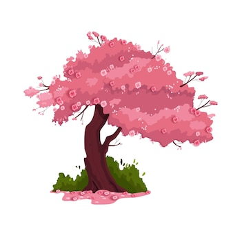 Frühlingskirschbaumillustration