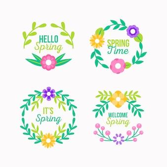 Frühlingskollektion im flachen design