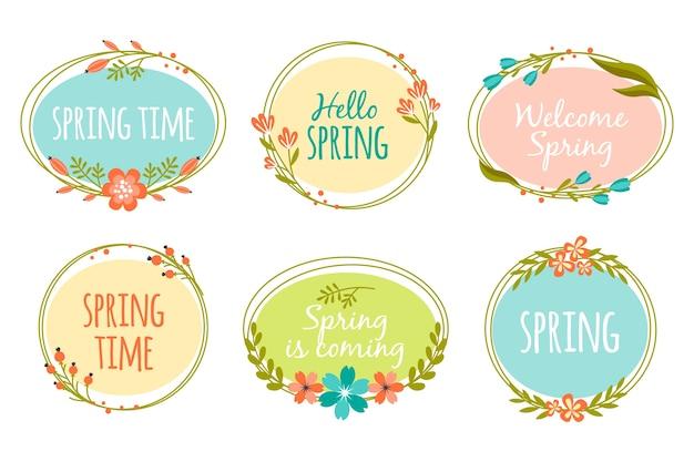 Frühlingskonzept für die etikettensammlung