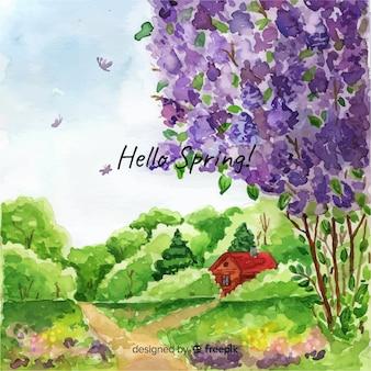 Frühlingslandschaft