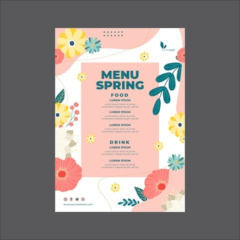 Frühlingsmenüvorlage