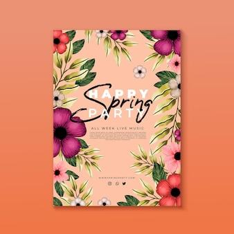Frühlingsparty flyer vorlage