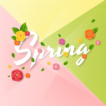 Frühlingsplakat mit blumen