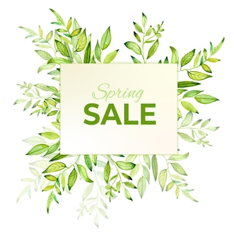 Frühlingsverkauf aquarell