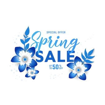 Frühlingsverkauf banner. sonderrabatt