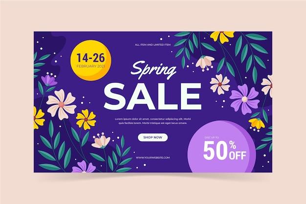 Frühlingsverkauf banner vorlage