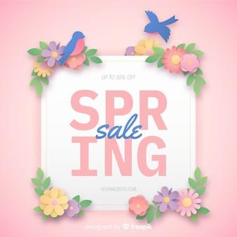 Frühlingsverkauf banner