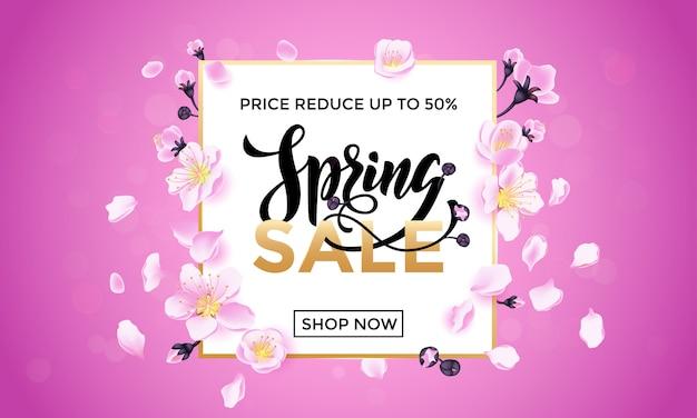 Frühlingsverkauf blumenplakat