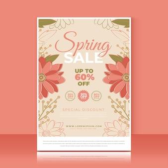 Frühlingsverkauf flyer vorlage