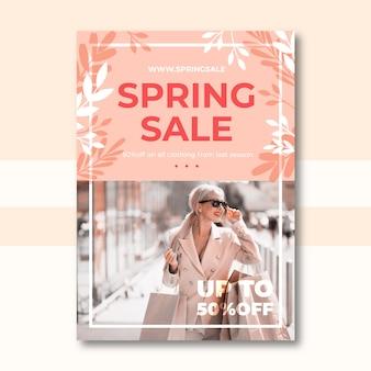 Frühlingsverkauf flyer