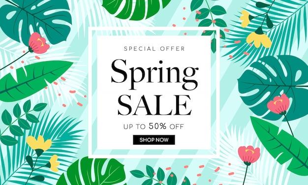 Frühlingsverkauf hintergrunddesign