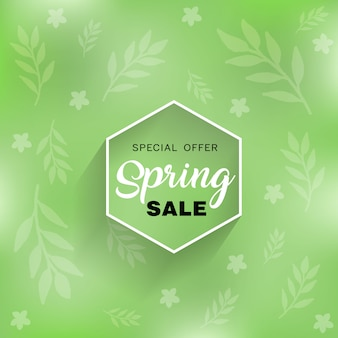 Frühlingsverkauf im hintergrund