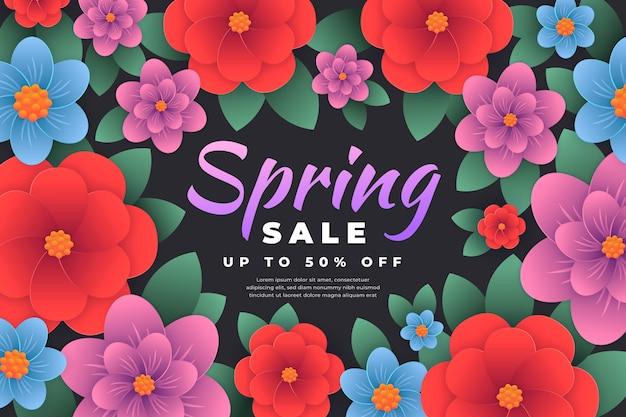 Frühlingsverkauf im papierstil
