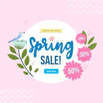 Frühlingsverkauf in der hand gezeichnet