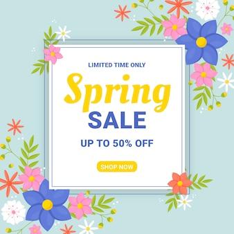 Frühlingsverkauf in flachem design