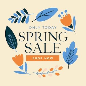 Frühlingsverkauf in flacher bauform