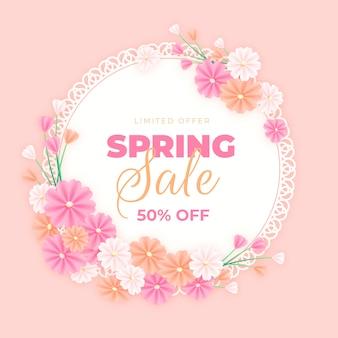 Frühlingsverkauf in realistischem design
