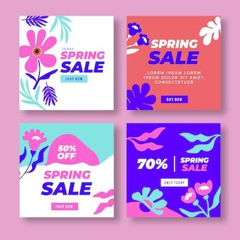 Frühlingsverkauf instagram beitragssammlung