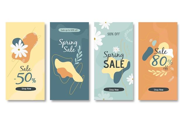 Frühlingsverkauf instagram geschichte sammlung