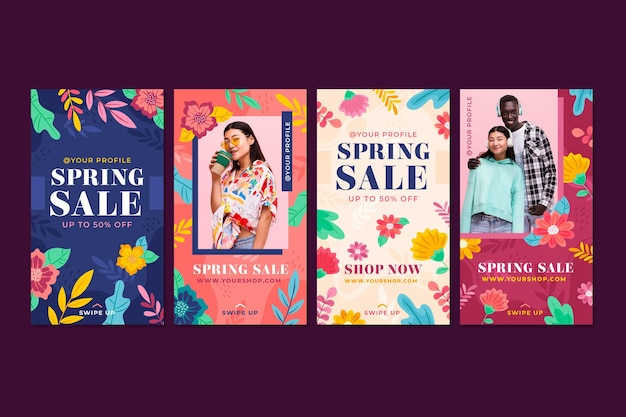 Frühlingsverkauf instagram geschichten