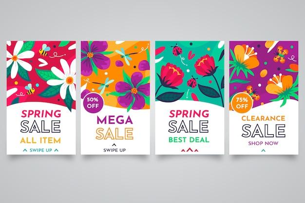 Frühlingsverkauf instagram geschichtensatz