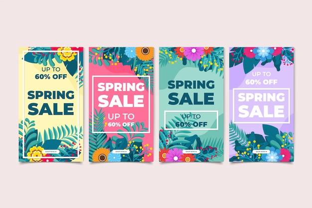 Frühlingsverkauf instagram geschichtenzusammenstellung