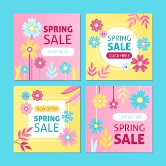 Frühlingsverkauf instagram pfostensatz