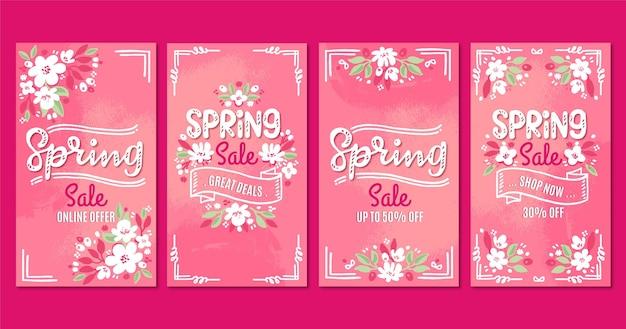 Frühlingsverkauf instagram storeis