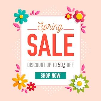 Frühlingsverkauf mit blumen
