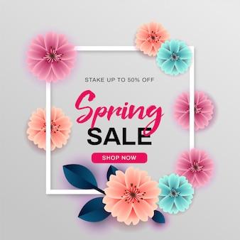 Frühlingsverkauf mit schönen blumen