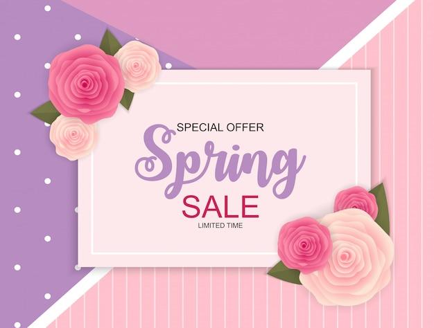 Frühlingsverkauf nette fahne