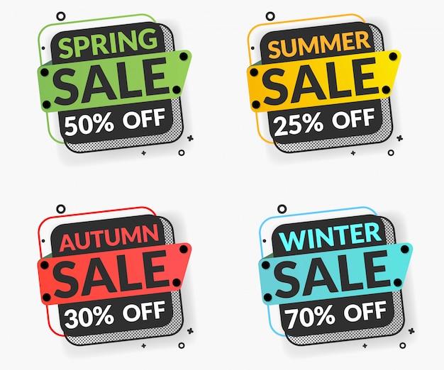 Frühlingsverkauf, sommerangebot bannersammlung