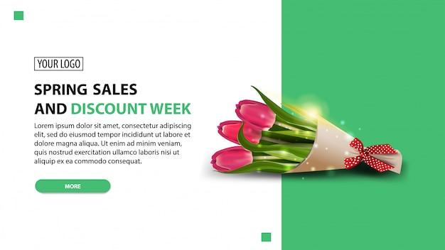 Frühlingsverkauf und rabattwoche