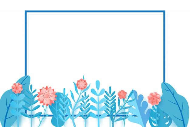 Frühlingsverkaufsfahnen-designblätter und -blume.