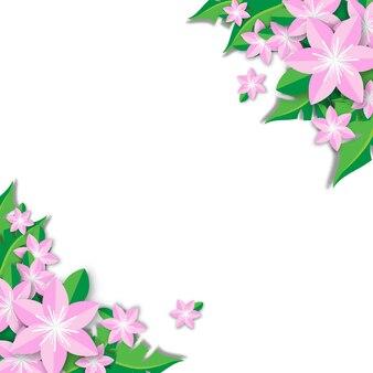 Frühlingsverkaufshintergrund mit schönem blumenvektor